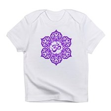 Purple Lotus Flower Yoga Om Infant T-Shirt