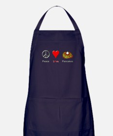 Peace Love Pancakes Apron (dark)