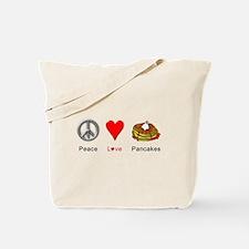 Peace Love Pancakes Tote Bag