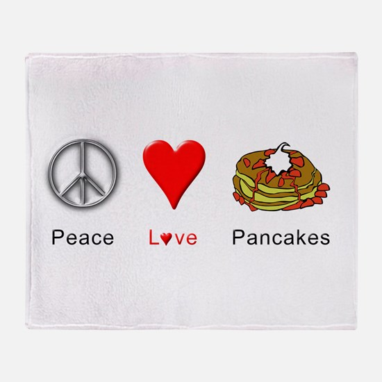 Peace Love Pancakes Throw Blanket