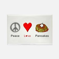 Peace Love Pancakes Rectangle Magnet