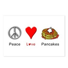 Peace Love Pancakes Postcards (Package of 8)