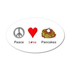 Peace Love Pancakes Wall Decal