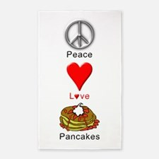 Peace Love Pancakes 3'x5' Area Rug