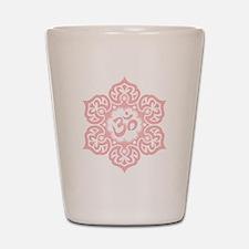 Pink Lotus Flower Yoga Om Shot Glass