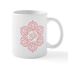 Pink Lotus Flower Yoga Om Mugs