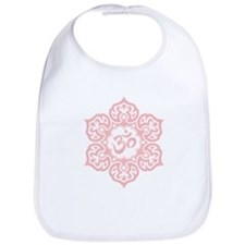 Pink Lotus Flower Yoga Om Bib