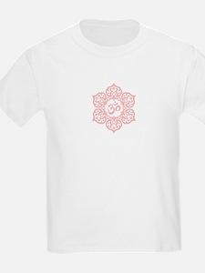 Pink Lotus Flower Yoga Om T-Shirt