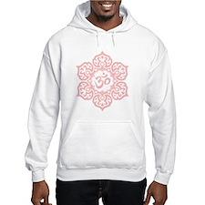 Pink Lotus Flower Yoga Om Hoodie Sweatshirt