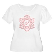 Pink Lotus Flower Yoga Om Plus Size T-Shirt