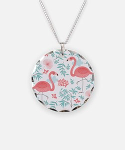 Pink Flamingos Necklace