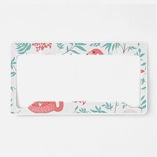 Pink Flamingos License Plate Holder