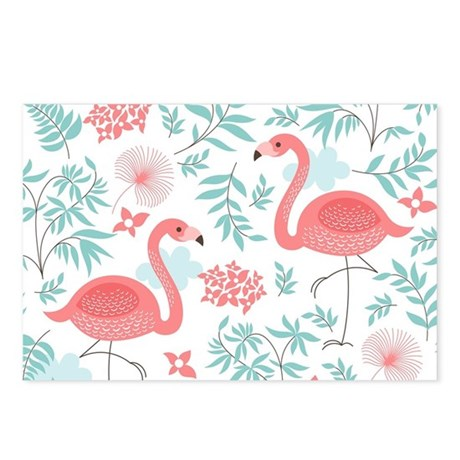 Pink Flamingos Postcards (Package of 8)
