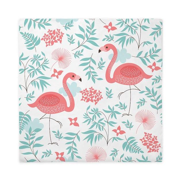 Pink Flamingos Queen Duvet By Bestgear