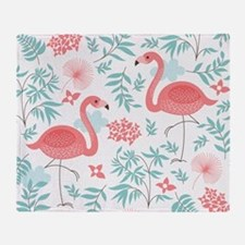 Pink Flamingos Throw Blanket