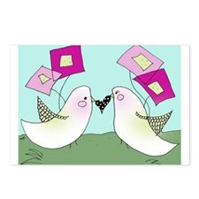 Blushing Birds Postcards (Package of 8)