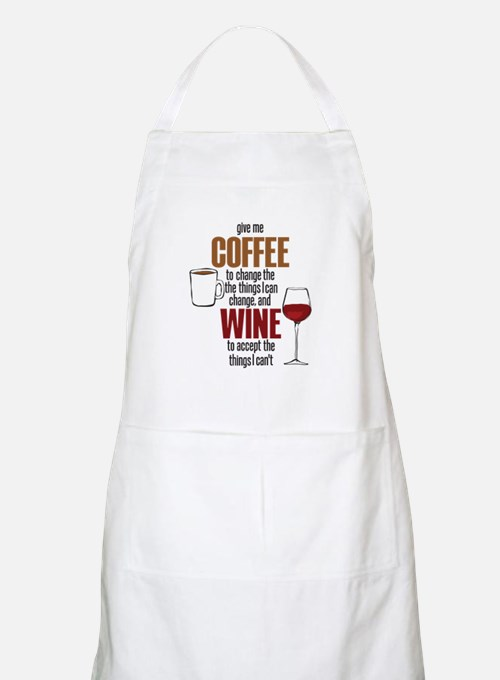 Give me Coffee to change the things I can Apron