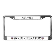 Boom Operator License Plate Frame
