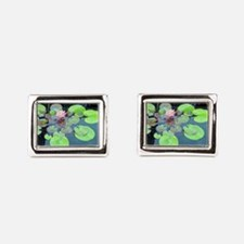 Lily Pads with Frog Rectangular Cufflinks