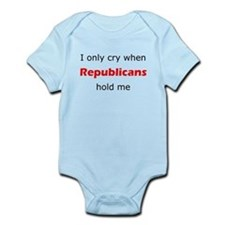 I Only Cry When Republicans Hold Me Body Suit