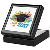 2017 graduation Square Keepsake Boxes