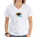2018 graduation Women's V-Neck T-Shirt