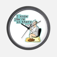 I Know You're In There Wall Clock