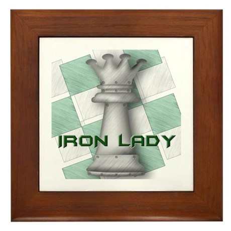 Chess Queen: Iron Lady (Green Framed Tile