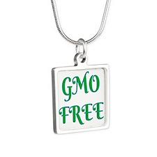 GMO FREE Silver Square Necklace