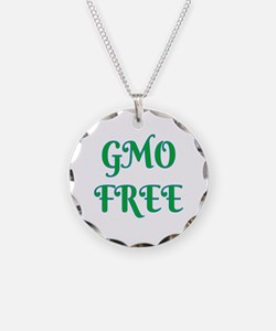 GMO FREE Necklace Circle Charm