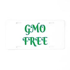 GMO FREE Aluminum License Plate
