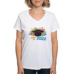 2022 graduation Women's V-Neck T-Shirt