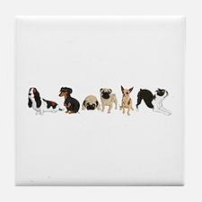 Dogs Line-Up Tile Coaster