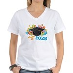 2028 graduation Women's V-Neck T-Shirt
