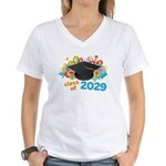 2029 graduation Women's V-Neck T-Shirt