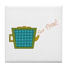 Tea Time Mosaic Retro Teapot Tile Coaster