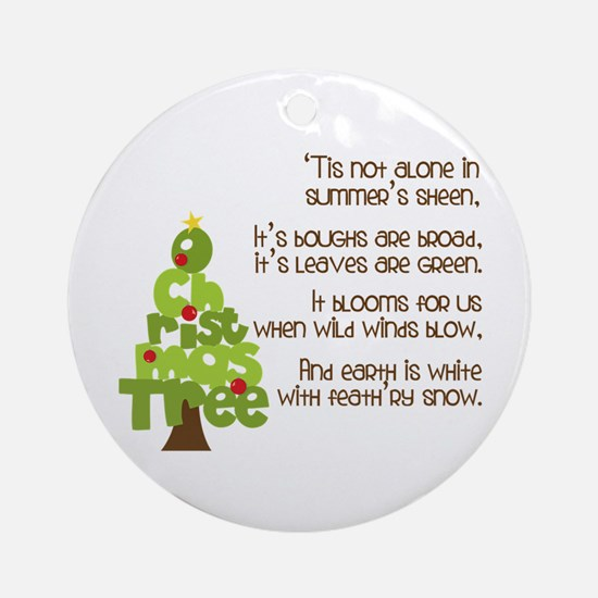 O Christmas Tree Ornament (Round)