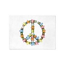 Peace Flowers 5'x7'Area Rug
