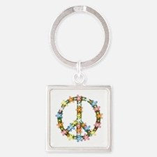 Peace Flowers Keychains