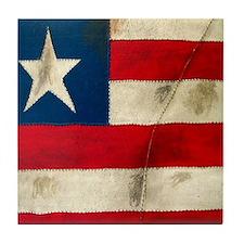 Torn Flag Tile Coaster
