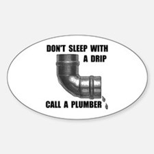 PLUMBER Oval Decal