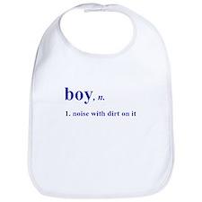 Boy noise with dirt Bib