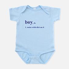 Boy noise with dirt Infant Bodysuit