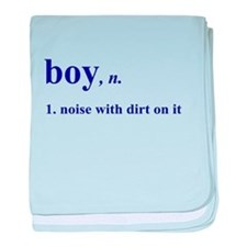 Boy noise with dirt baby blanket