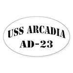 USS ARCADIA Sticker (Oval)