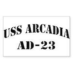 USS ARCADIA Sticker (Rectangle)