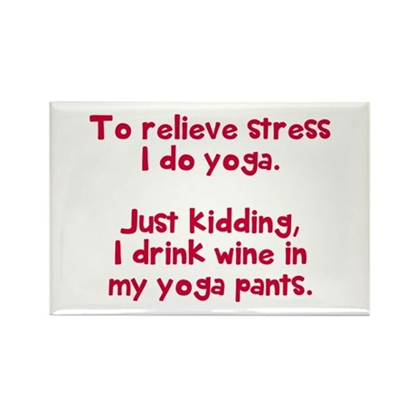 drink wine in Rectangle Magnet