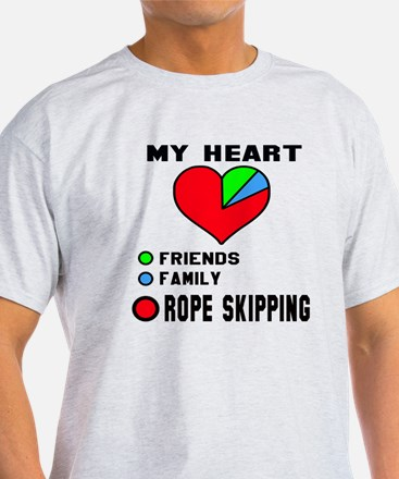 My Heart Friends, Family and Rope sk T-Shirt