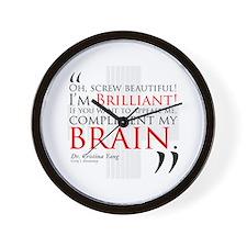 Screw Beautiful! I'm Brilliant! Wall Clock