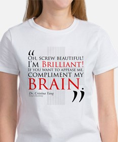 Screw Beautiful! I'm Brilliant! Tee